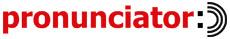 Logo for Pronunciator